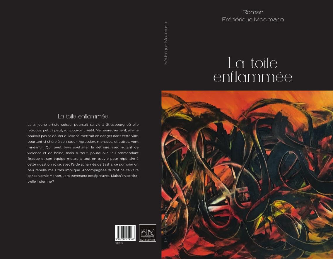 La toile enflammée roman de Frédérique Mosimann